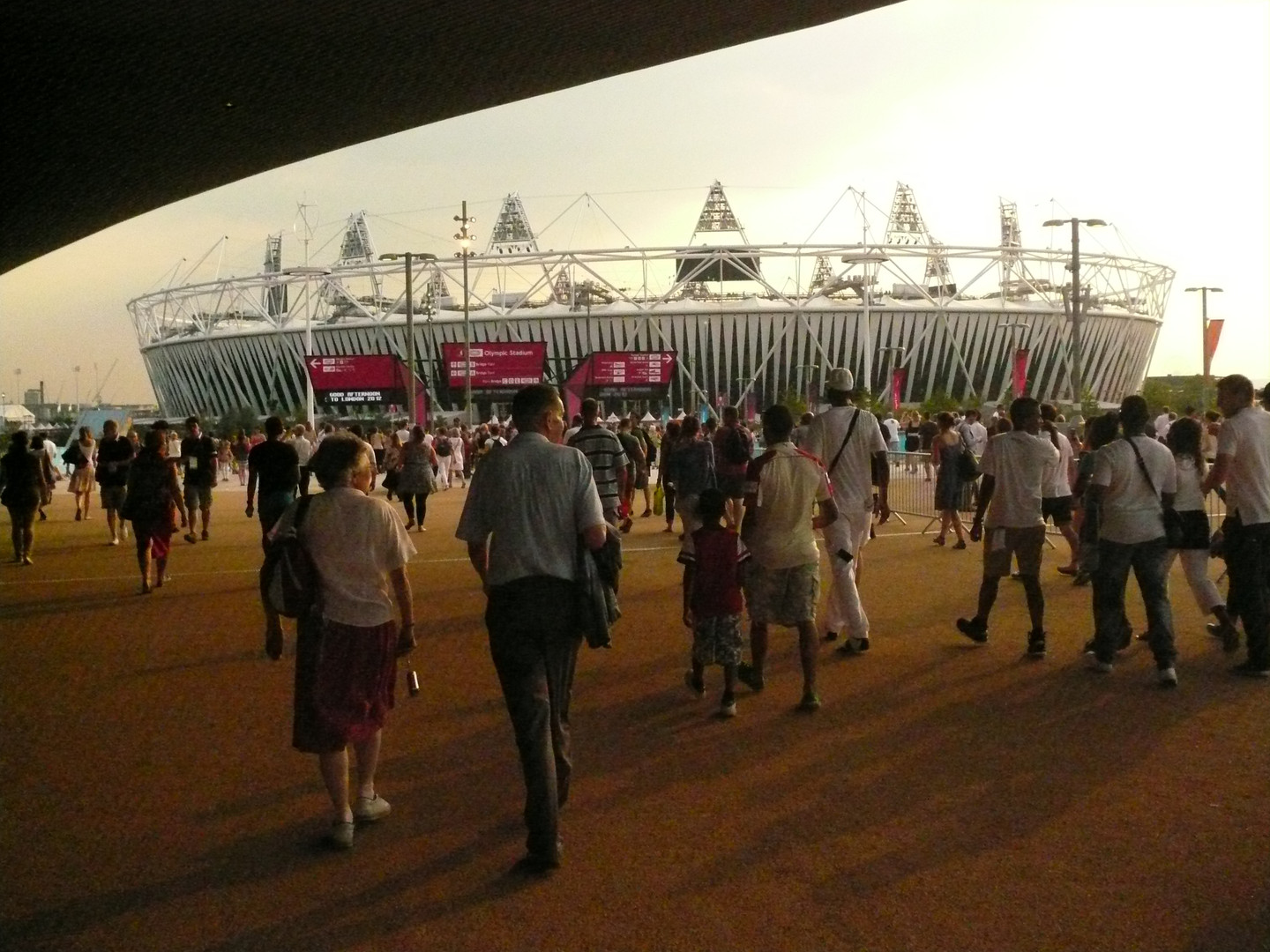 Punters Arrive At The Olympic Stadium For The London 2012 Opening Ceremony
