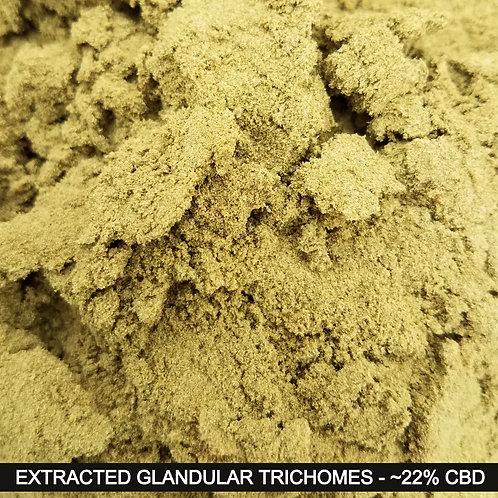 Trichomes/Resin Glands/Kief - 22% Full Spectrum Total CBD - 5grams/Bottle