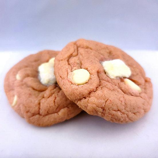 Strawberry White Chocolate Marshmellow Cookies