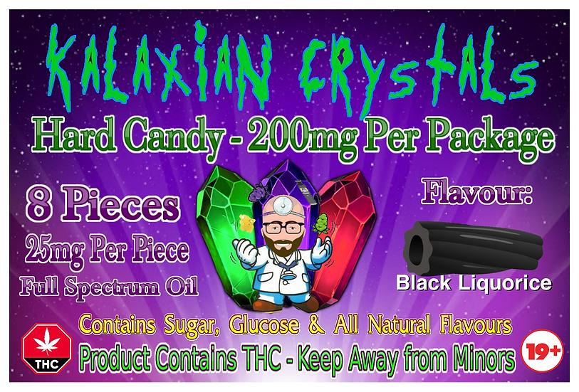 Black Liquorice Kalaxian Crystals Hard Candy