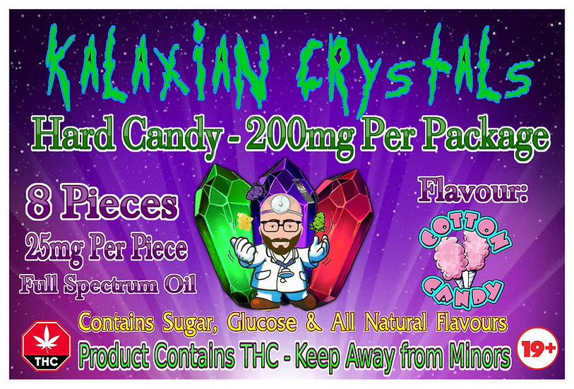 Cotton Candy Kalaxian Crystals Hard Candy