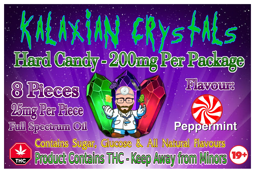 Peppermint Kalaxian Crystals Hard Candy