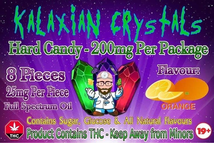 Orange Kalaxian Crystals Hard Candy