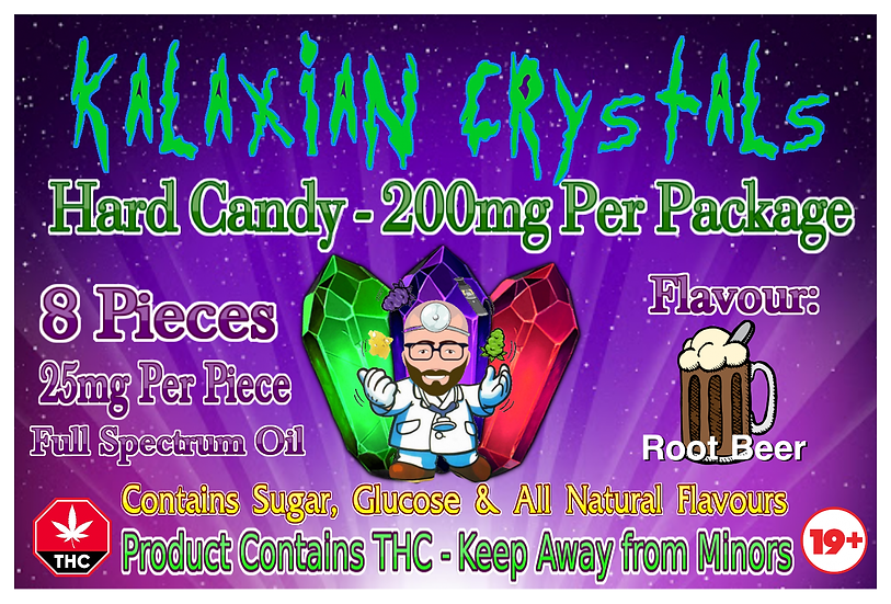 Root Beer Kalaxian Crystals Hard Candy