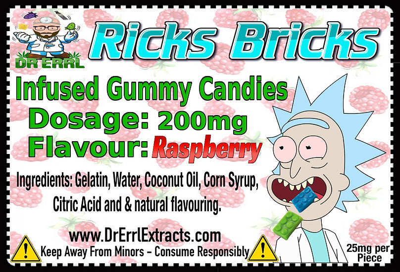 Raspberry Ricks Bricks Gummies