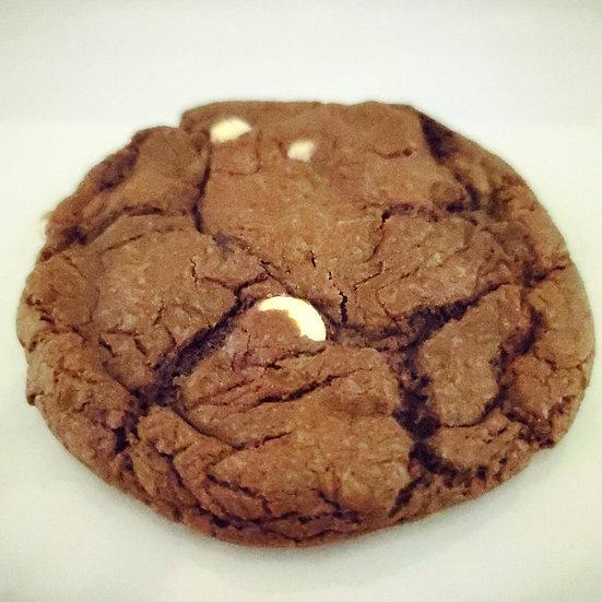 Double Chocolate White Chocolate Chip Nightmare Before Kushmas Cookie
