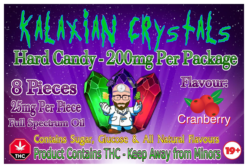 Cranberry Kalaxian Crystals Hard Candy