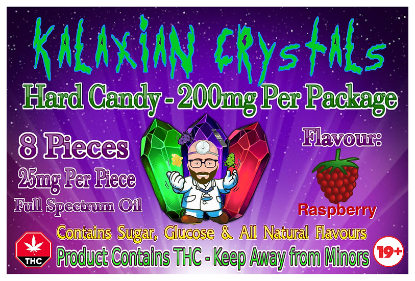 Raspberry Kalaxian Crystals Hard Candy