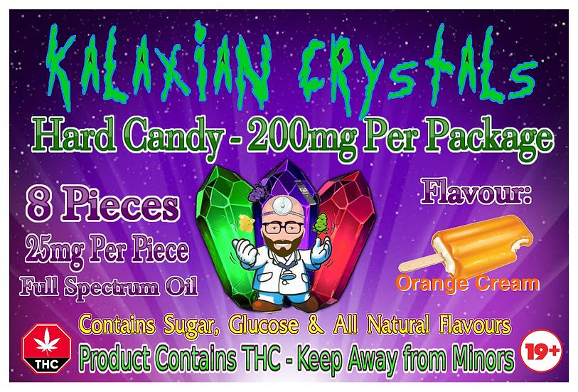 Orange Cream Kalaxian Crystals Hard Candy