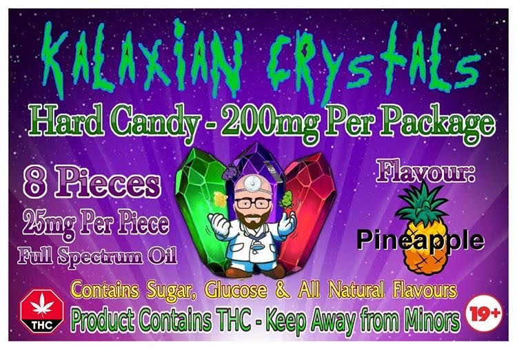Pineapple Kalaxian Crystals Hard Candy