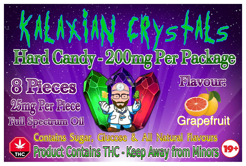 Grapefruit Kalaxian Crystals Hard Candy