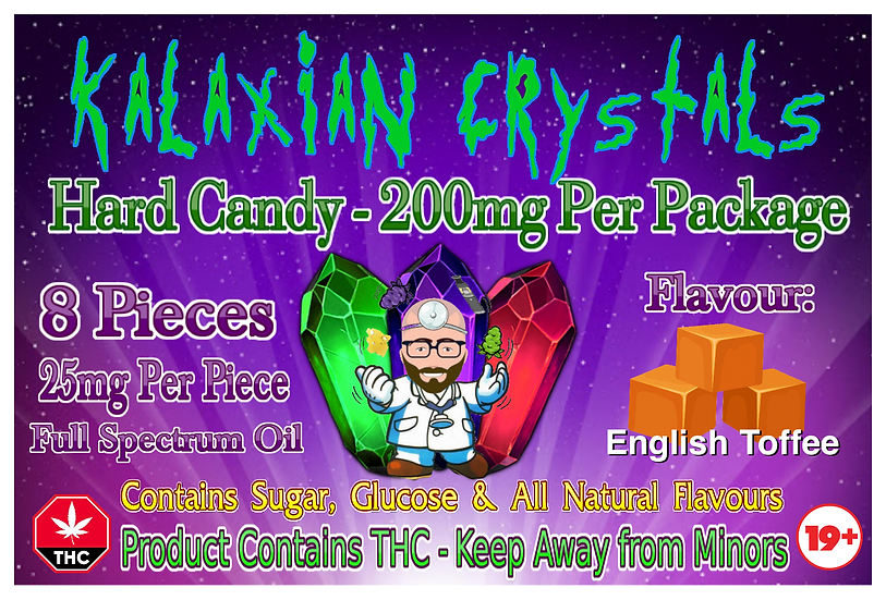 English Toffee Kalaxian Crystals Hard Candy