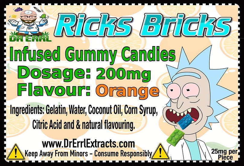 Orange Ricks Bricks Gummies