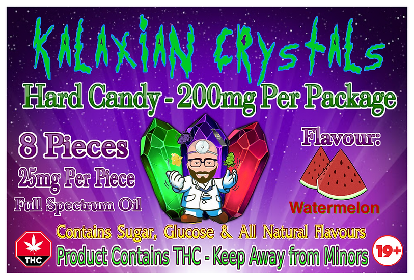 Watermelon Kalaxian Crystals Hard Candy