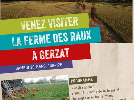Assemblée Générale de Terre de Liens Auvergne, visite de la Ferme : venez !