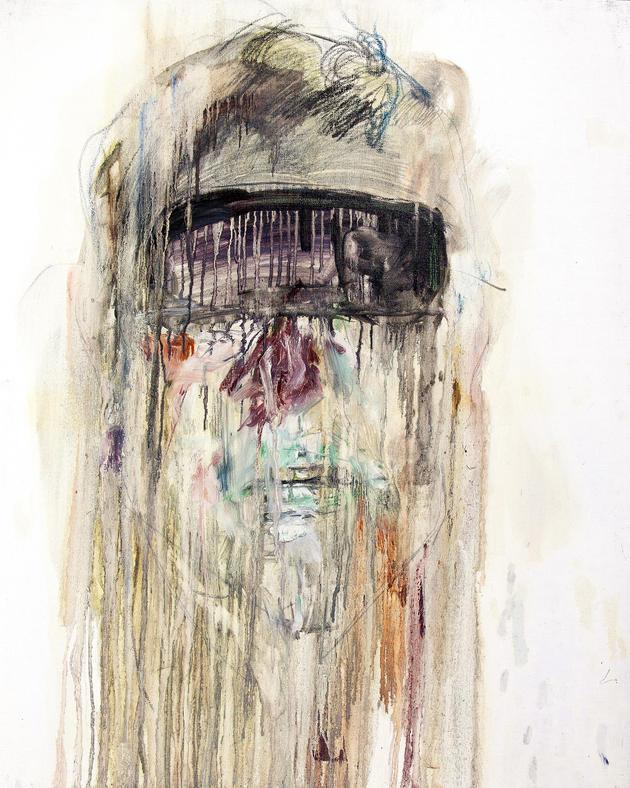 무제 / Untitiled, 72.7 x 60.6cm, 캔버스에 오일파스텔과 유채 / Oil and Oil Pastel on Canvas, 2011