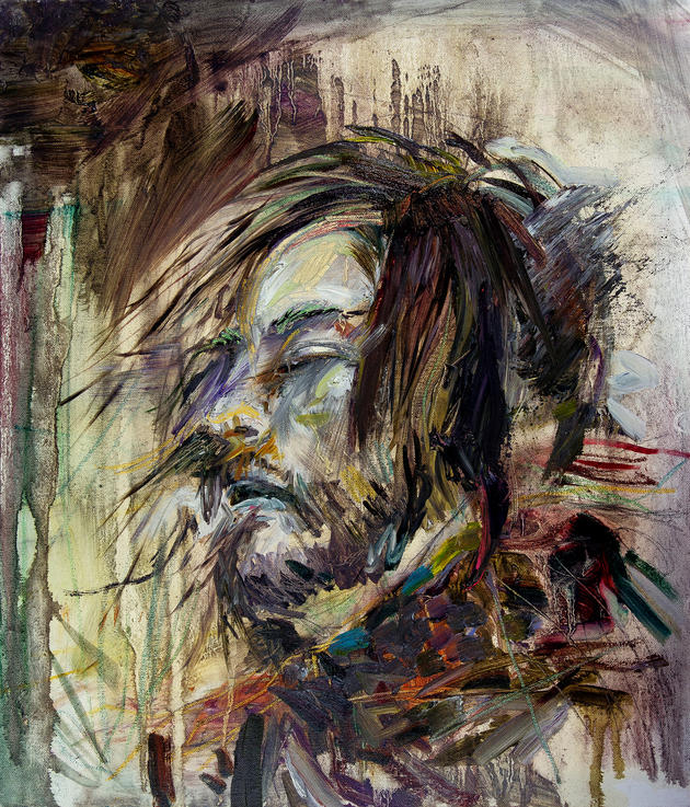 무제 / Untitiled, 53 x 45.5cm, 캔버스에 오일파스텔과 유채 / Oil and Oil Pastel on Canvas, 2012