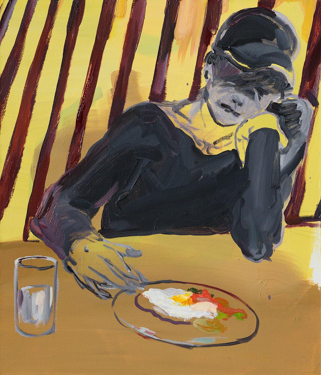 서글픈 속도의 식사, 53 x 45.5cm, 캔버스에 유채 / Oil on Canvas, 2018