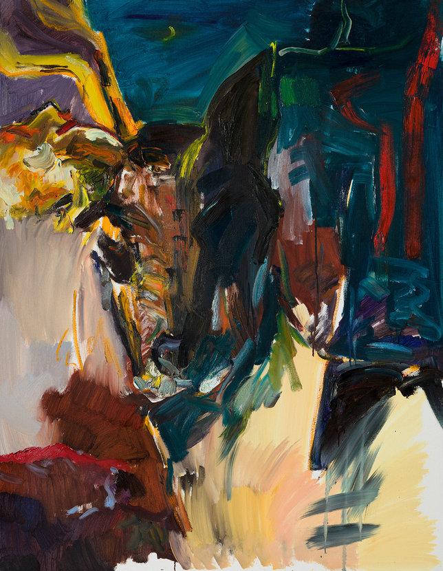 정태후, 개와 사슴 사이, 116.8x91cm, 캔버스에 유채, 2018.jpg
