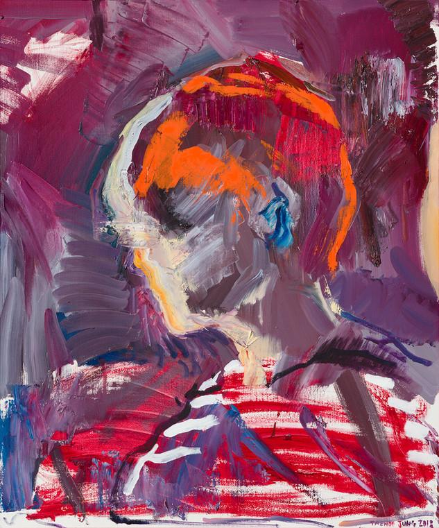 수줍음, 90.9x72.7cm, 캔버스에 유채 / Oil on Canvas, 2018