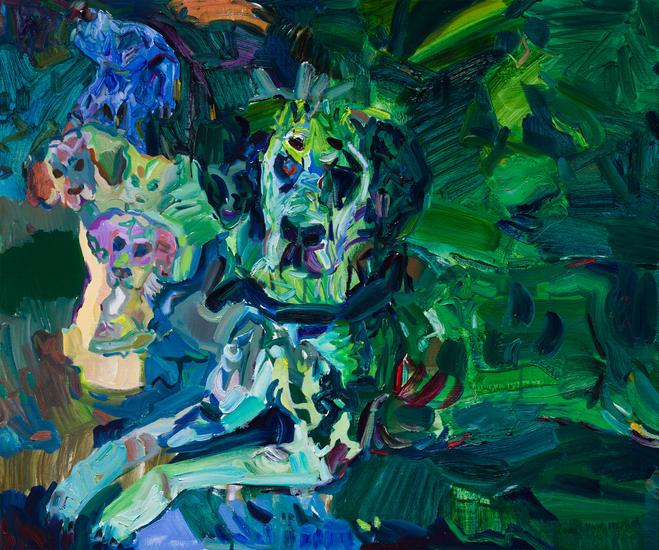 숲의 정령, 캔버스에 유채, 60.6×72.7cm, 2020