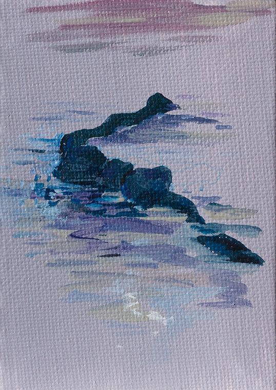 젖어버린 보타이, 10 x 7cm, 캔버스에 유채 / Oil on Canvas, 2018