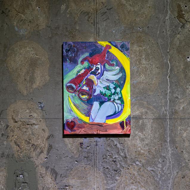 15_와일드카드(조커),캔버스에 유채, 33.4x24.2cm,2020.j