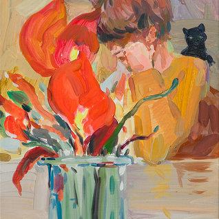 시들지 않을 꽃, 33.4×24.2cm, 캔버스에 유채 / Oil on Canvas, 2018