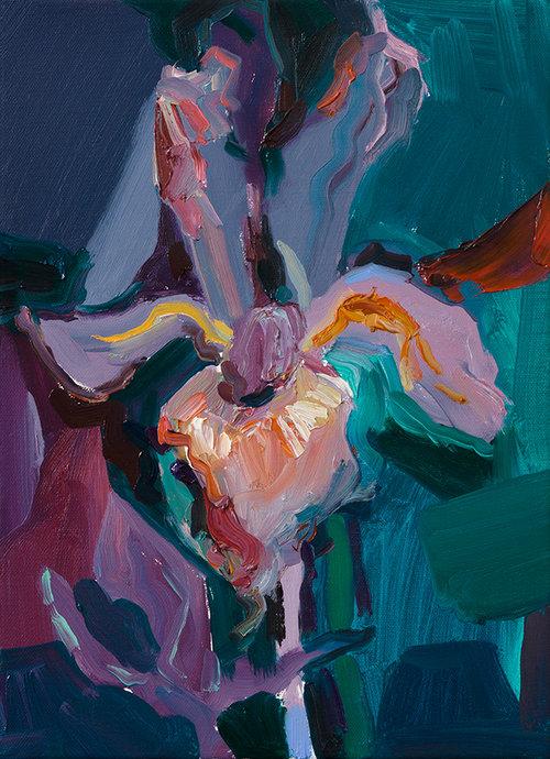 괴물(iris), 캔버스에 유채, 33.4×24.2cm, 2019