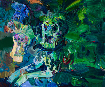 숲의 정령, 리넨에 유채, 60.6×72.7cm, 2020.jpg