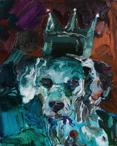 검은 왕관, 리넨에 유채 27.3×22cm, 2019