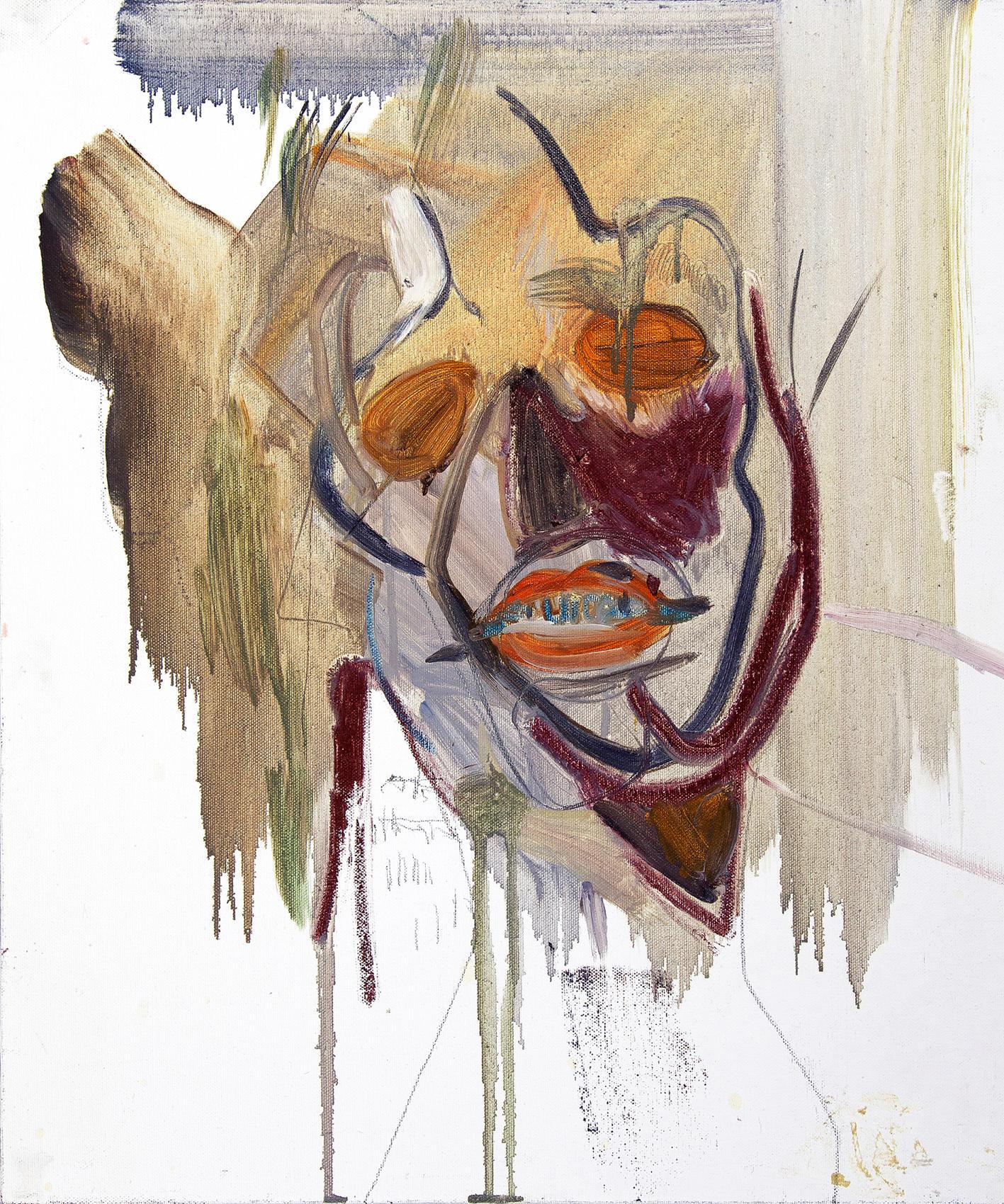 무제 / Untitiled, 53 x 45.5cm, 캔버스에 오일파스텔과 유채 / Oil and Oil Pastel on Canvas, 2011