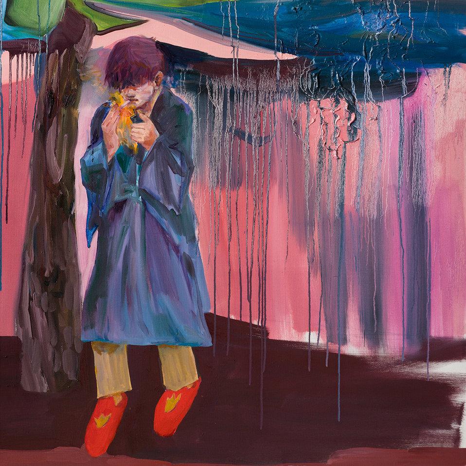빗밤의 꺼풀 / Rainy Mood, 145.5 x 97cm, 캔버스에 유채 / Oil on Canvas, 2018