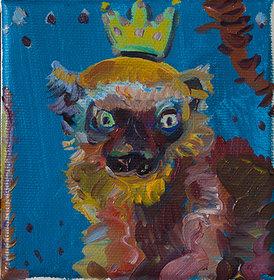 원숭왕, 캔버스에 유채, 10x10cm, 2019