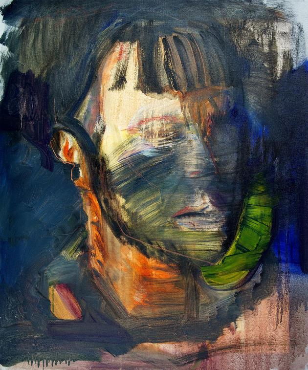무제 / Untitiled, 72.7 x 60.6cm, 캔버스에 오일파스텔과 유채 / Oil and Oil Pastel on Canvas, 2013