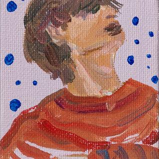 사로잡힌 음악, 10 x 7cm, 캔버스에 유채 / Oil on Canvas, 2018