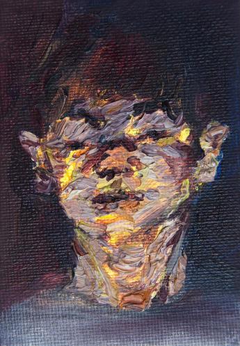 소용돌이 / A whirlpool, 10 x 8cm, 캔버스에 유채 / Oil on Canvas, 2014