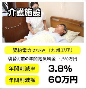 介護施設 電気代 年間削減率