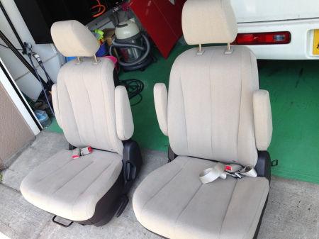 シート丸洗い,自動車,運転席,助手席