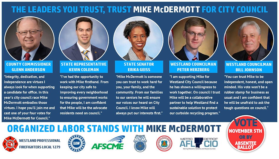 Mike McDermott For Westland City Council