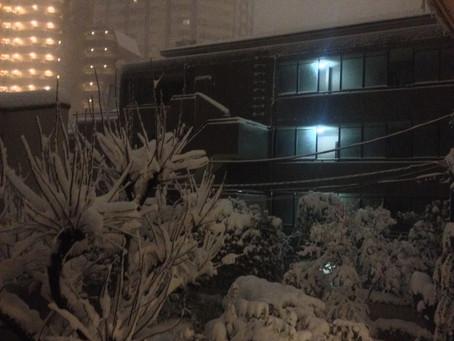 snow again!!