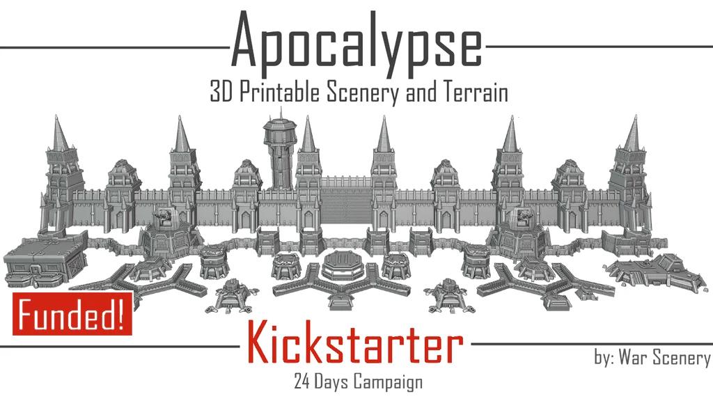 Apocalypse Fortress Kickstarter War Scenery