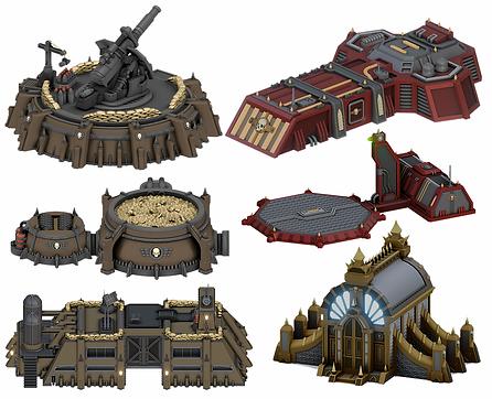 Grimdark 3D Models by War Scenery