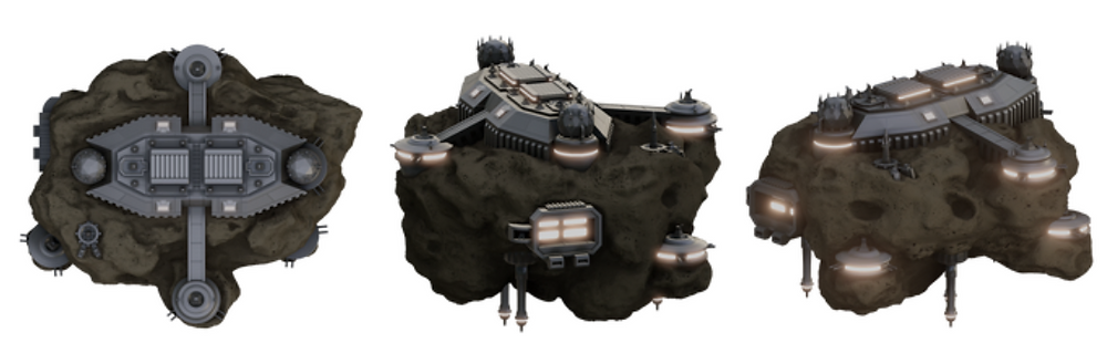3D printable Asteroid Space Base