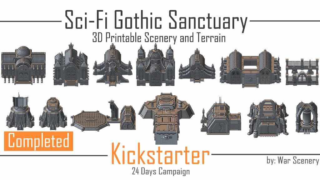 Gothic Sanctuary Kickstarter War Scenery
