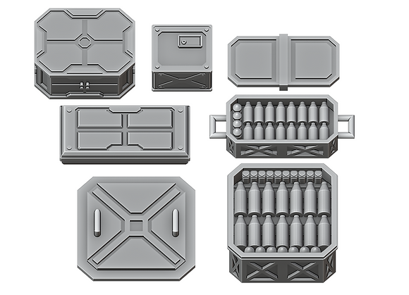 Sci-Fi Crates Set 2 by War Scenery