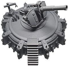 Printed Earthshaker Cannon War Scenery