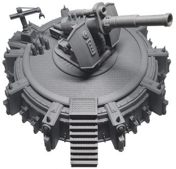 Gedruckte Earthshaker Cannon War Scenery