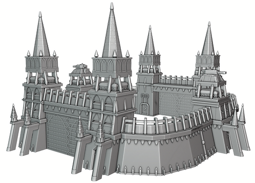 The Fortress Wall War Scenery