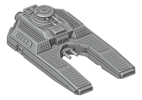 Sci-Fi Hover Tank by War Scenery